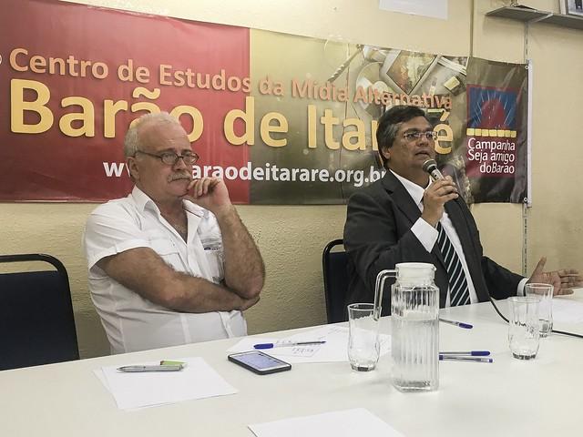 Governador do Maranhão participou de uma coletiva de imprensa com jornalistas de mídias progressistas, em São Paulo - Créditos: José Eduardo Bernardes/ Brasil de Fato