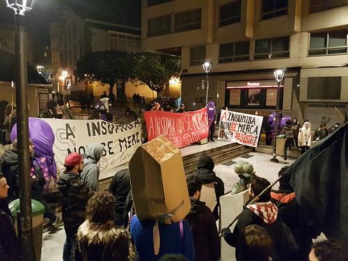 Manifestacion en defensa del CSO A Insumisa: Plz. del humor