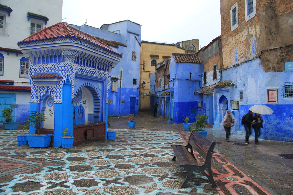 Rainy streets of Chefchaouen