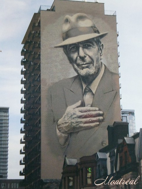 Canada -   Quebec - Montreal - Leonard Cohen mural - swap - Monique Lafontaine