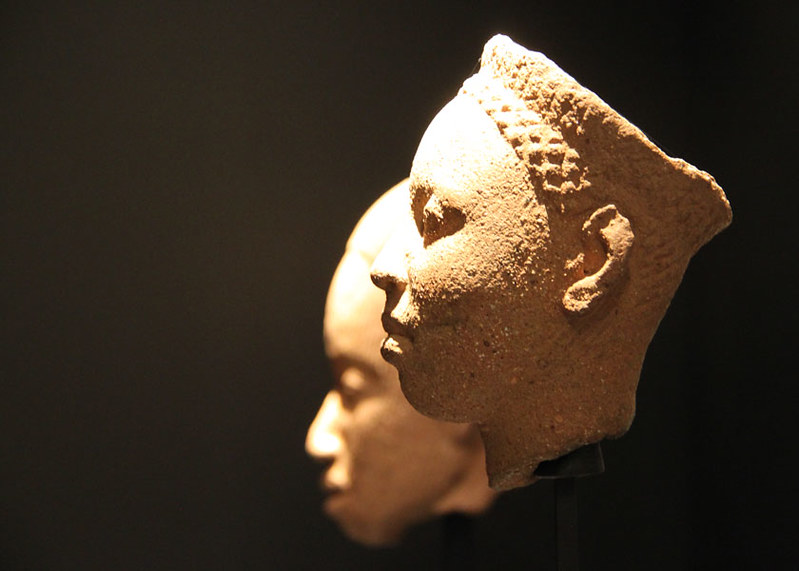 Terracotta head from Kingdom of Ife, probably a king, from Ethnological Museum of Berlin