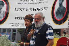 Joseph Toscano and Carolyn Briggs at Commemoration of Tunnerminnerwait and Maulboyheener - IMG_2790