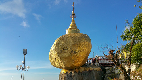 myanmar pagode rocherdor kyaikto goldenrock monstate myanmarbirmanie mm