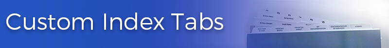 Custom Index Tabs Organizational Tabs Alphabetical Numerical Book Section