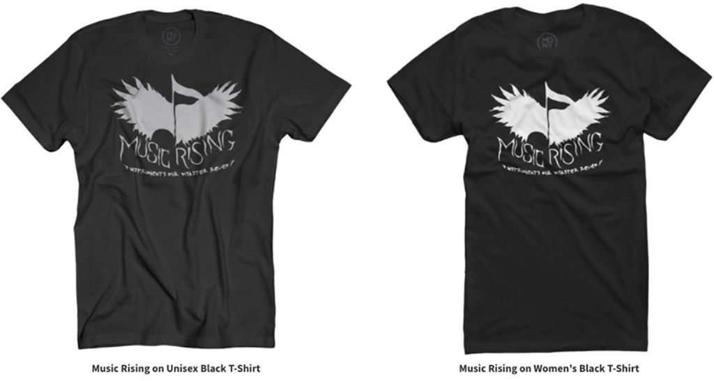 Music rising launches new site and shirts for disaster relief