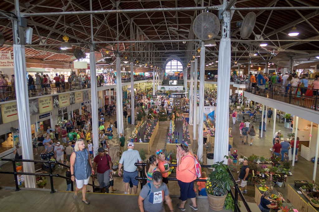 Inside the Agriculture Building at the Iowa State Fair