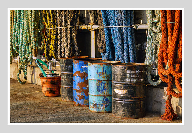ROPES AND OIL DRUMS