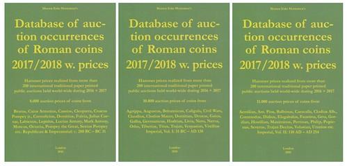 Mortensen Roman Coin Prices 2017-2018 book covers