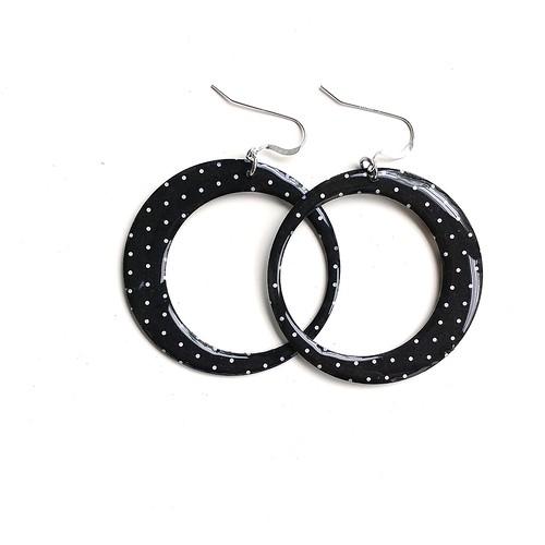 LC Studios Paper and Resin Hoop Earrings