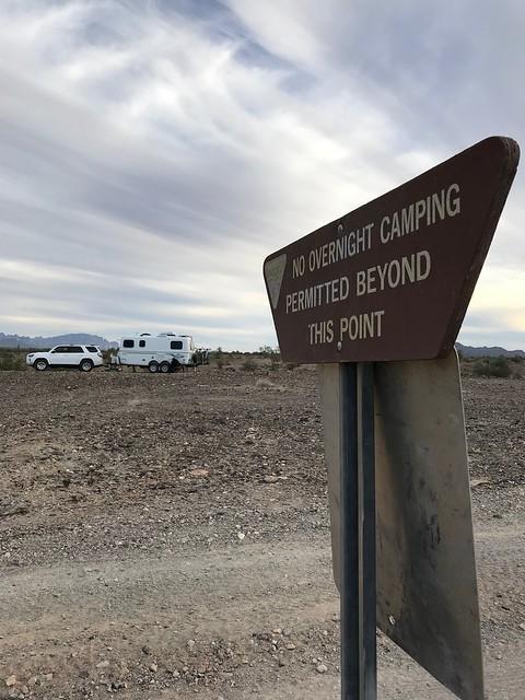 Quartzite campsite