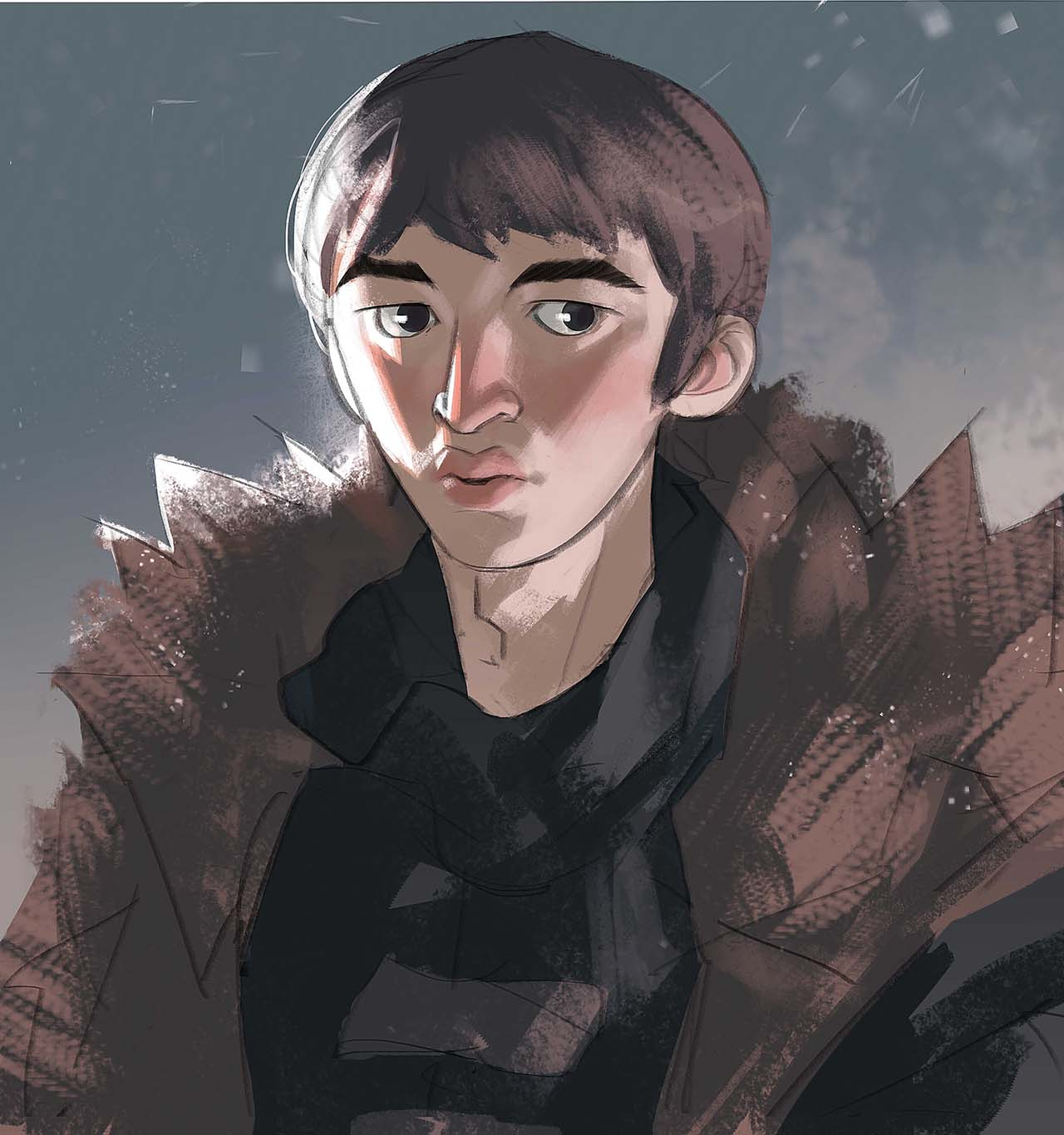 Artist Creates Unique Character Arts From Game Of Thrones – Bran Stark Character Art By Ramón Nuñez