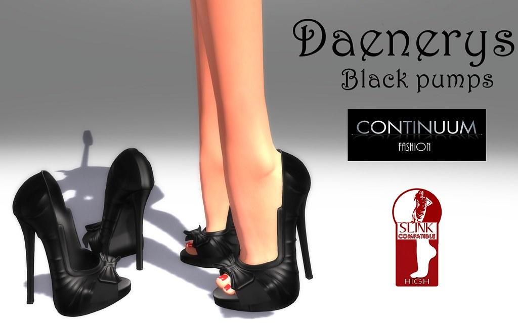 Continuum Daenerys pump black - TeleportHub.com Live!