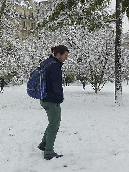 paulo dans la neige