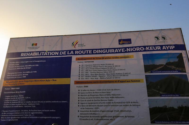 Réhabilitation de la route Dinguiraye-Nioro-Keur Ayib