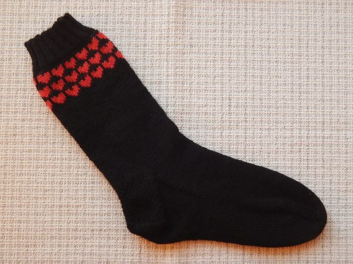 Soul Mate Heart Socks singleton
