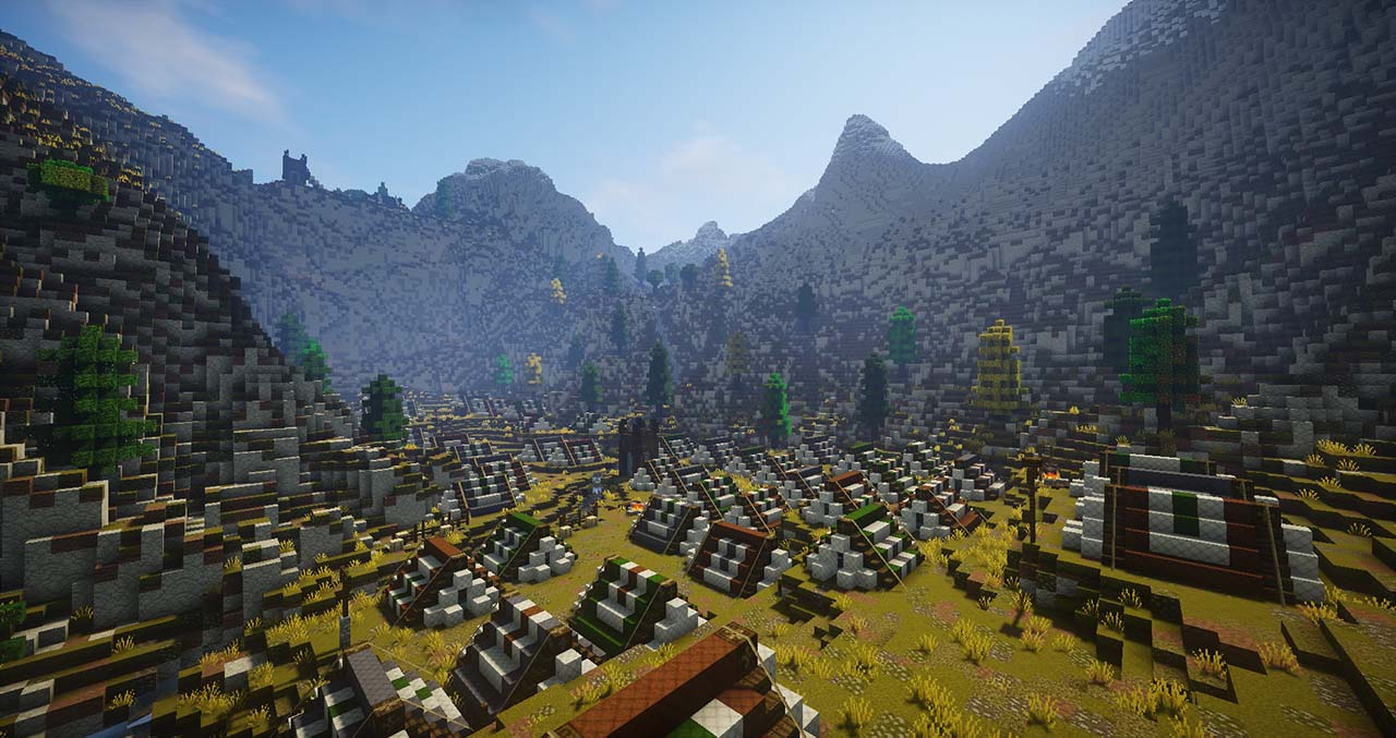 Minecraft Middle Earth By @mcmiddleearth: Dunharrow – Rohirrim Encampment Area