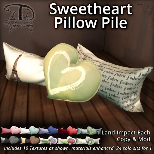 Sweetheart Pillow Pile for XOXO