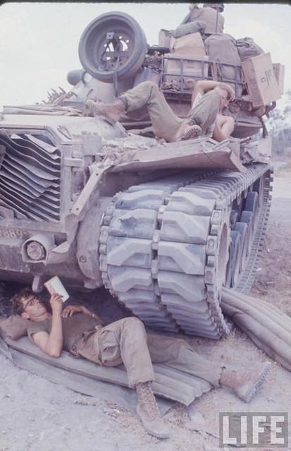 Securing Route 13,Vietnam, 1967