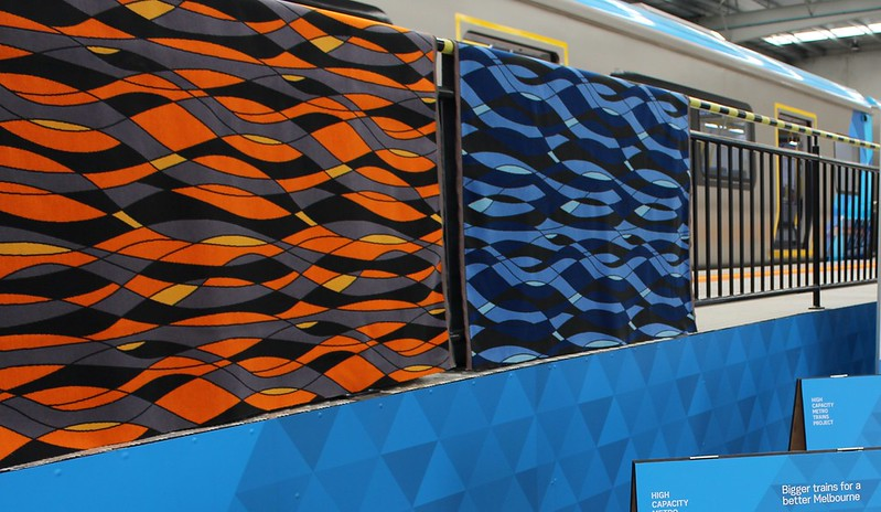 New metro trains: seat cover design
