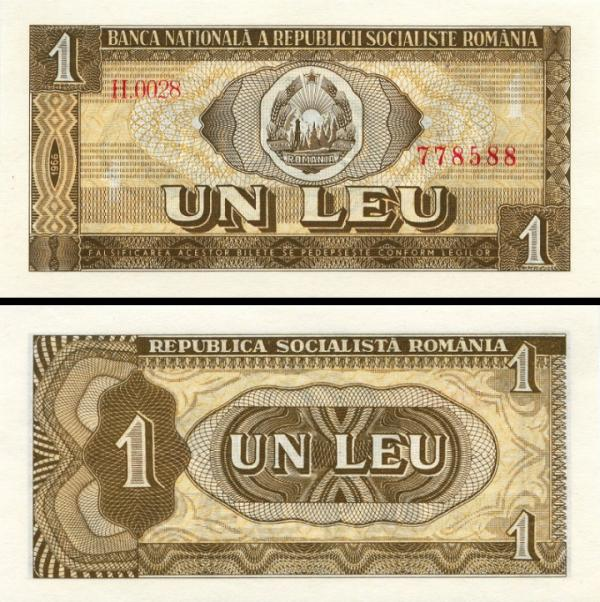 10 Leu Rumunsko 1966, P91a