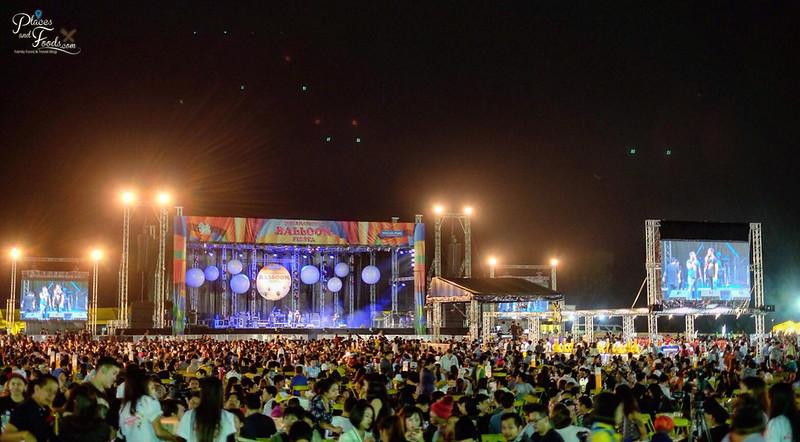 singha park hot air balloon 2018 concert view