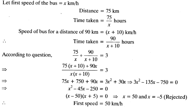 Quadratic Equations Chapter Wise Important Questions Class 10 Mathematics 49