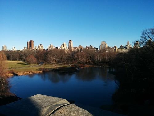 Looking east across Turtle Pond #newyorkcity #newyork #manhattan #centralpark #skyline #turtlepond #belvederecastle #winter #latergram
