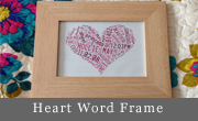 Heart Word Art Frame