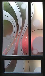 Pískované sklo