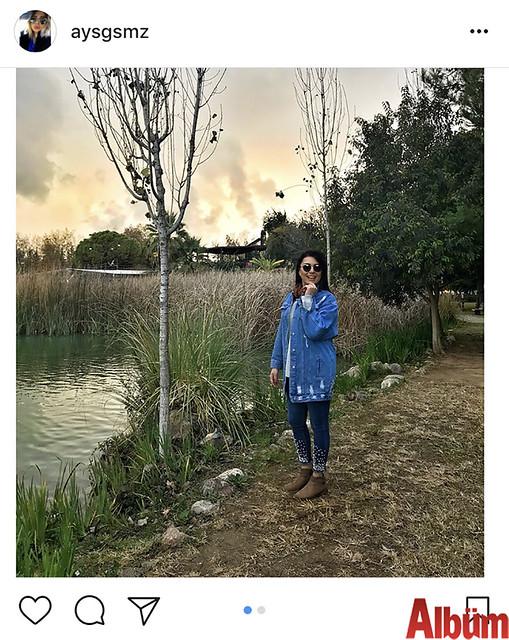 Ayşegül Sönmez, Antalya'da çektirdiği bu fotoğraf ile beğeni topladı.