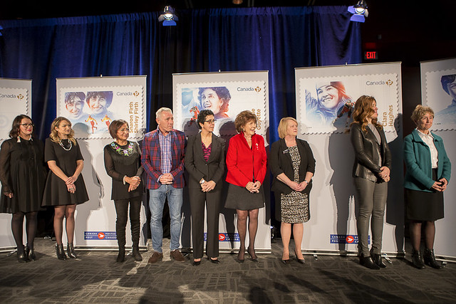 Canadian Women in Winter Sports Stamp Unveiling