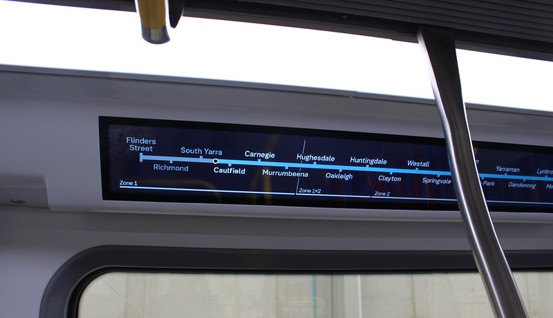 New metro train mock-up: station/train position indicator