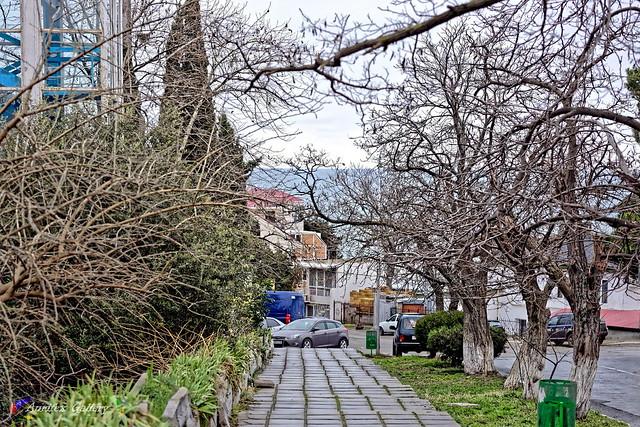 Crimean winter, cityscape