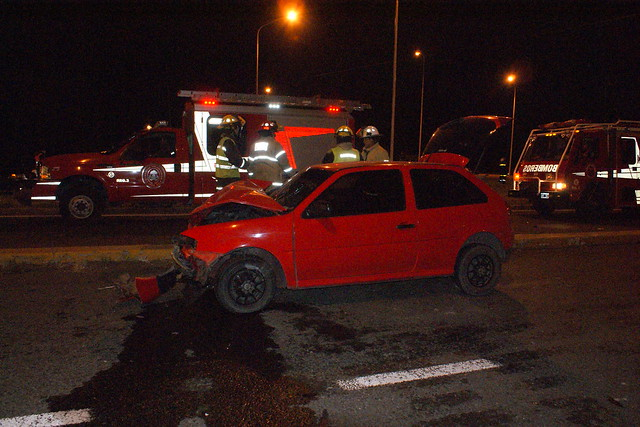 Accidente en Ruta 205 y acceso a la laguna de Lobos