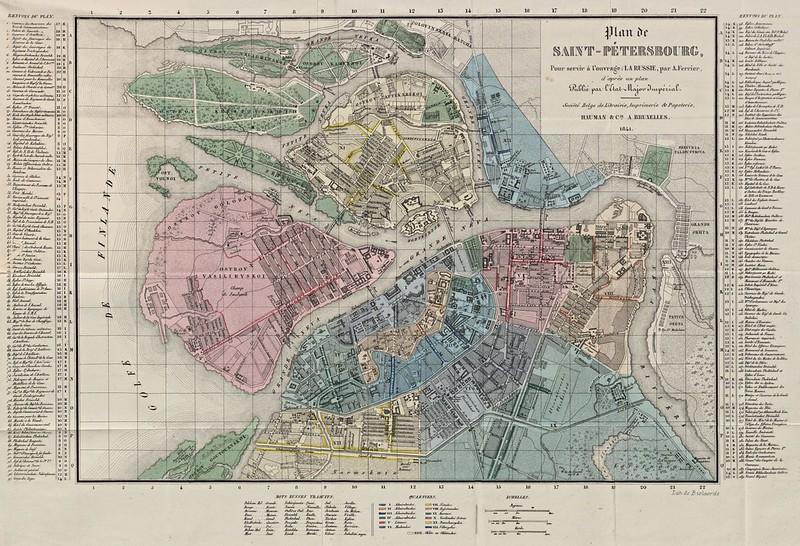 J. B. Bielaerts - Plan de Saint-Pétersbourg (1841)
