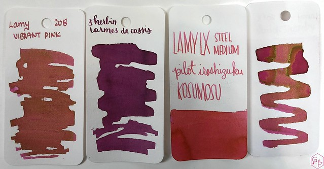 Ink Shot Review @LAMY Vibrant Pink 2018 Ink @laywines 20
