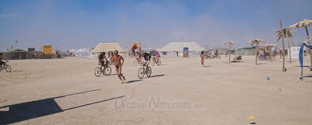 naturist camp Gymnasium 0000 Burning Man, Black Rock City, NV, USA
