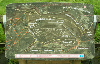 20170329-B_Info Board Map_ Levisham Moor + Hole of Horcum