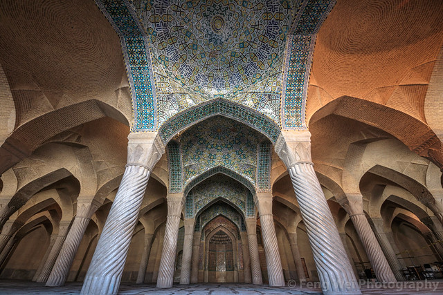 Prayer Hall of Vakil Mosque, Shiraz, Fars Province, Iran