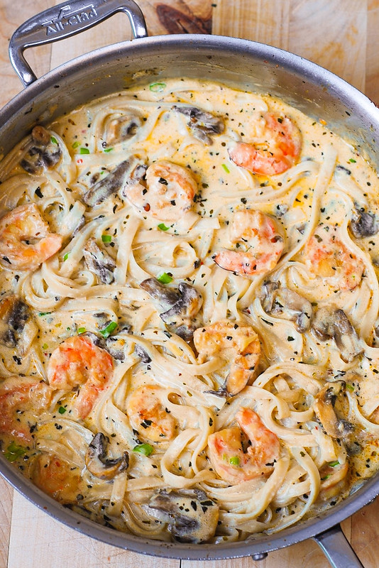 shrimp pasta recipes, garlic shrimp pasta