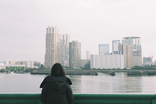 wife and Sumidagawa River