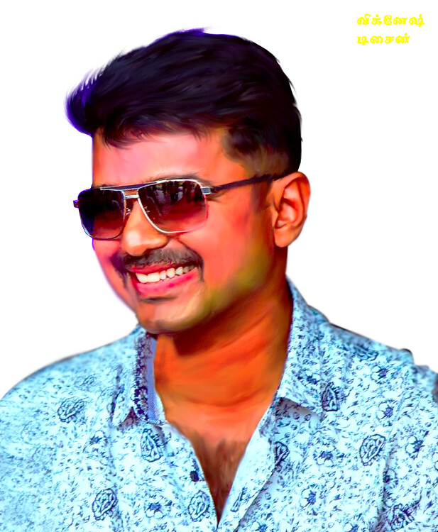 Actor Vijay Painting Png Hd Vignesh Varant Flickr