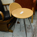 Beech stool chrome legs E25