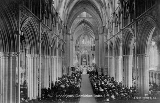 Trondhjems Domkirkes indre (ca. 1930)