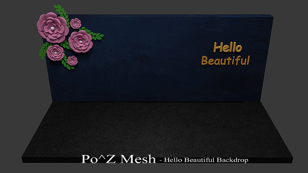 Po^Z Mesh - Hello Beautiful Backdrop - TeleportHub.com Live!