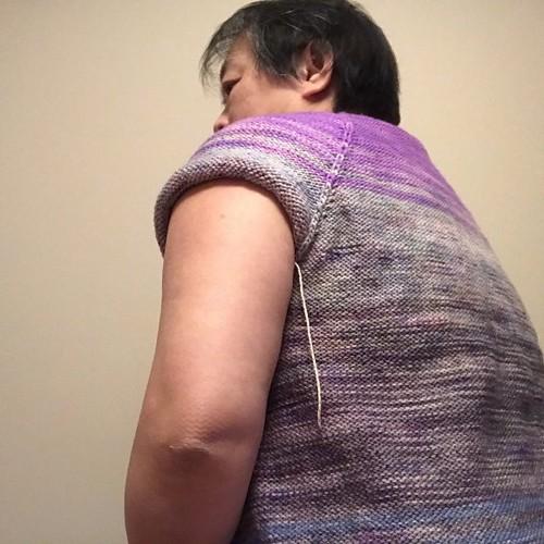 Sue2Knit Comfort Fade Cardi WIP