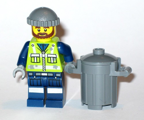 garbage man grant minifigure from lego 70805 trash chomper the lego movie 2014 a
