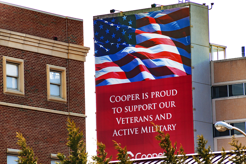 COOPER IS PROUD TO SUPPORT OUR VETERANS AND ACTIVE MILITARY--Camden