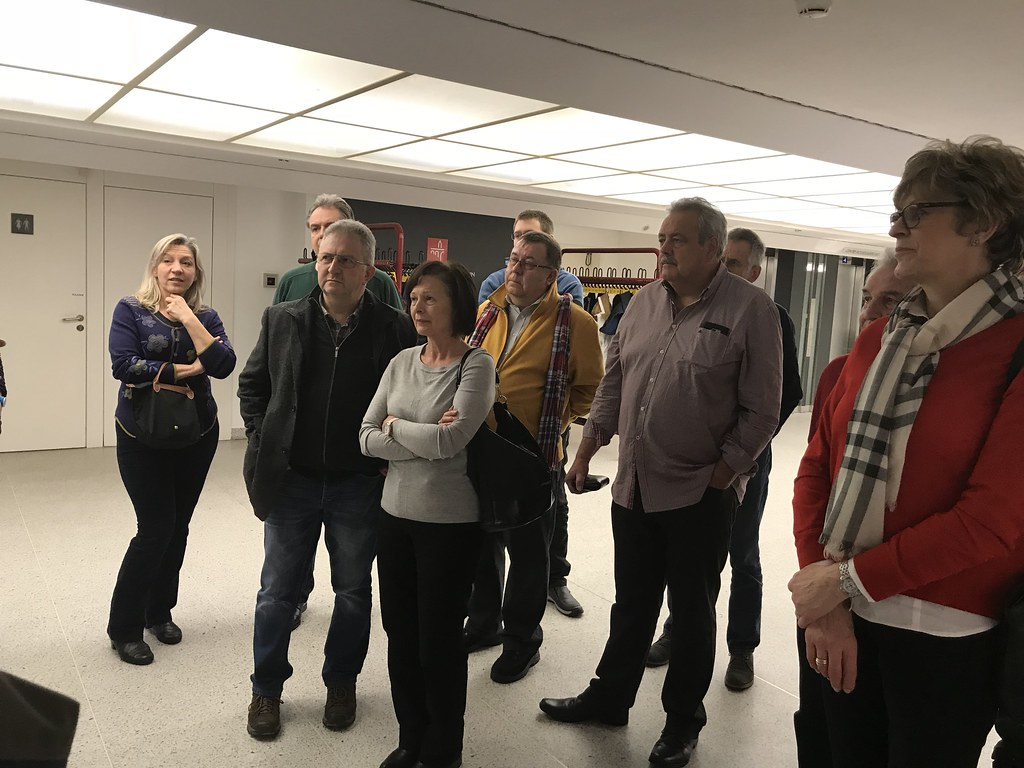 Visite vun der Ausstellung vum Raymond Clement