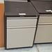 2 drawer low coffee cream filing cab E60